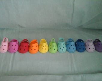 "Croc Shoes fits the 18"" American Girl Doll"