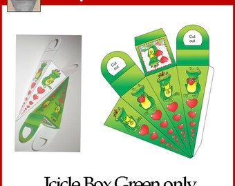 Frog Love Icicle Treat Box Green