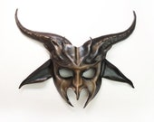 Goat Leather Mask  costume Krampus Baphomet entirely handcrafted very lightweight easy to wear