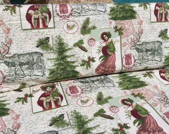 SALE ~ Christmas Memories by Patty Reed Designs ~ By the Yard  ~ Fabric Traditions ~ Cotton Quilt Fabric