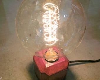 Purpleheart minimalist globe lamp
