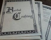 NEW Herbal Crafting BOS Sheets PDF format-- 15 pages Book of Shadows pages by Asteria Books