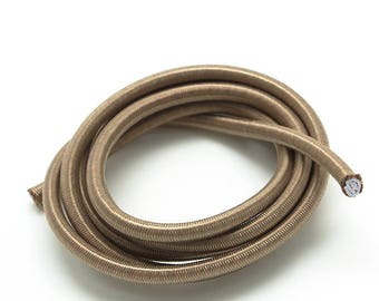 1 m elastic cord - sandow - 4.5 mm - sand beige