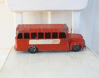 Vintage Toy School Bus, Red School Bus, Hubley School Bus, Back to School, Metal School Bus, Metal Bus