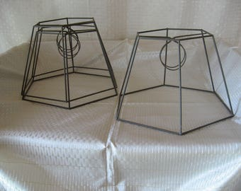 Vintage Six Sided Lamp Shade Frame