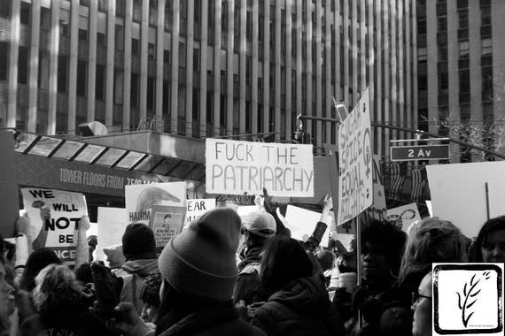 """Fuck the Patriarchy,"" New York City Women's March, 2017."