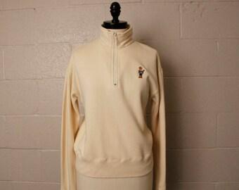 Vintage 1990's Polo Sport Teddy Bear Fleece Pullover S