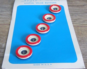 Vintage Patriotic Sewing Buttons