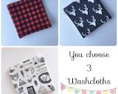 Washcloth Gift Set Organic Bamboo Washcloth - Washcloth - Organic Bamboo Washcloth - Bath & Beauty - Facecloth - Gift for baby