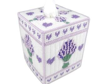 PATTERN: Lavender Tissue Box Cover in Plastic Canvas