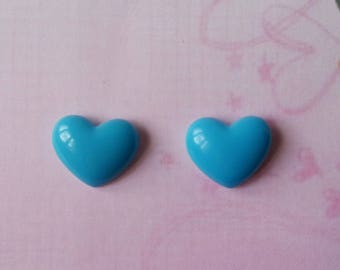 ♥ Earrings chips hearts turquoise ♥ ♥