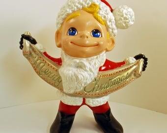Vintage Atlantic Mold Smiley - Merry Christmas