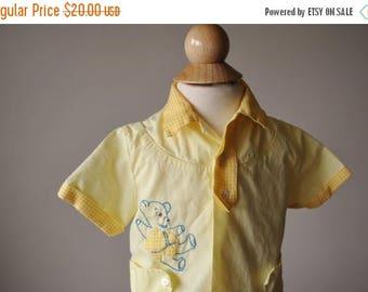 ON SALE 1950s Teddy Bear Set, size 6 Months