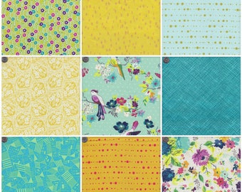 Summer Crush Mosaic Cool Fat Quarter Pack - 9 Fat Quarters
