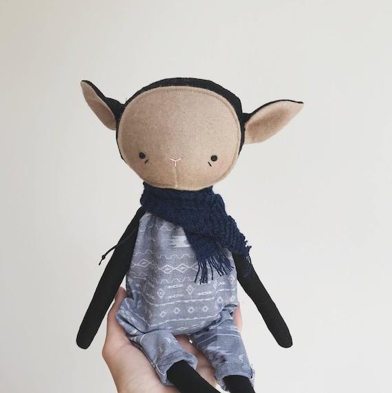 "the foundlings | handmade cloth lamb doll | ""genevieve"""