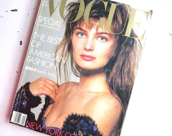 Vintage Vogue September 1986 Issue Paulina Porizkova Cover