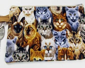 Cats, wristlet wallet, smartphone wristlet, wristlet for iphone, iphone wristlet case, cellphone wallet, padded wristlet, wristlet keychain