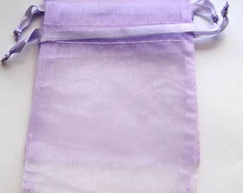 "10 Lavender Organza Bags, 4"" x 5"",  Gift Bags, Packaging, Jewelry Bags,  Party Favor Bags"