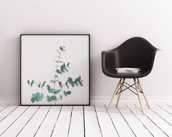 Eucalyptus Print, Botanical Art, Plant Print, Gift for Gardener, Kitchen Wall Art - Eucalyptus