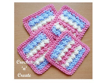 3 Color Coaster Crochet Pattern (DOWNLOAD) CNC56
