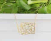 State of Washington Geometric Necklace | ATL-N-167