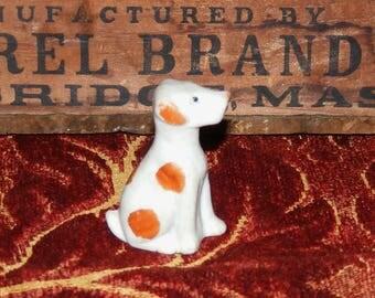 Vintage Bisque Small Dog Figurine Japan
