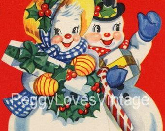 Vintage Snowmen Vol 1 Greeting Card Images on CD