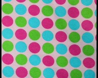 Multi color dots 1 yard cotton lycra knit