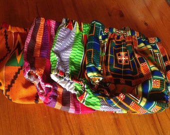 African Kente print cotton diaper nappy cover bloomers pants underwear