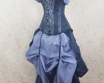 """SUMMER SALE Privateer Pirate Overbust Corset-to fit 24-26"""" natural waist"""