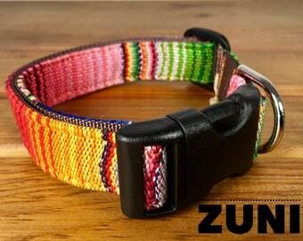 Dog Collar Zuni Dog Collar Colorful Dog Collar Striped Dog Collar Adjustable Dog Collar