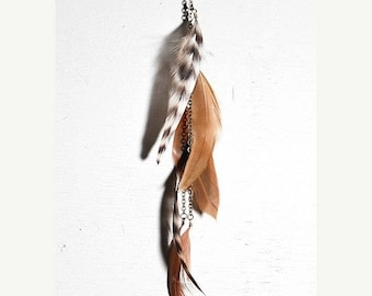 SUMMER SALE BRIGETTE single feather earring