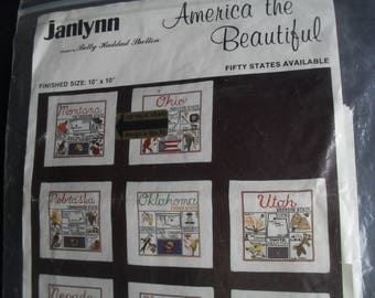 Embroidery Needle Kit Montana New Designs America the Beautiful by Janlynn