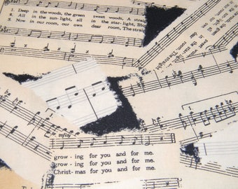 Reason For the Season Music Cotton Fabric in Black and Ivory