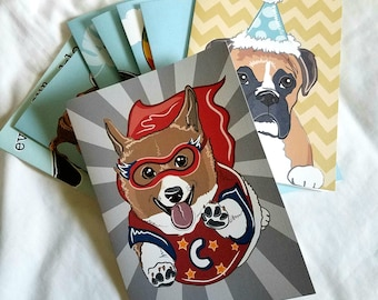 Surprise Card Pack - Set of 10 with matching envelopes