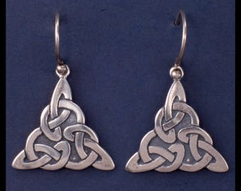 Celtic TRIQUETRA KNOT WORK- Earrings- Sterling Silver