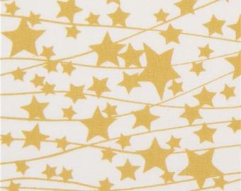 218711 light cream fabric with mustard yellow star by Art Gallery Fabrics