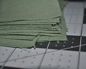 20 Grass Green 5 Inch Squares Cotton Scrap Quilting Stash