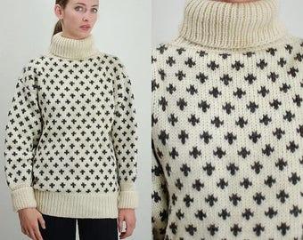 SALE 25% off sundays Vintage Sweater / Vintage 60s Sweater / 60s Sweater / Nordic Sweater / Wool Sweater / 60s Wool Sweater / Denmark Sweate
