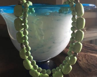 Beautiful light green turquoise necklace!