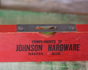 Vintage Wooden Ruler Level- Measurement Advertising Warren, Minn.- Carpenter Level Vintage Tool- A29