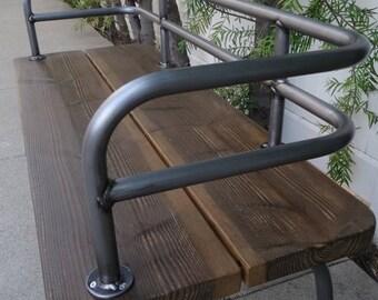 SUMMER SALE Panka - Indoor/outdoor bench brushed metal finish