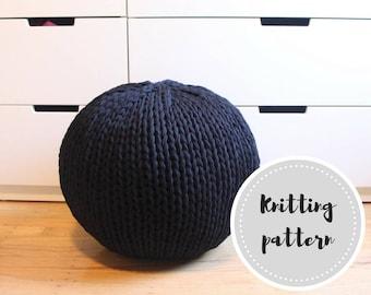 Jersey knit pouf pattern