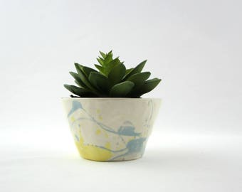 Abstract Brushwork Succulent Planter