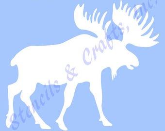 "6"" MOOSE STENCIL NORTHWOODS stencils pattern template animal templates craft scrapbook paint background new"