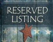 Reserved Listing for Linda