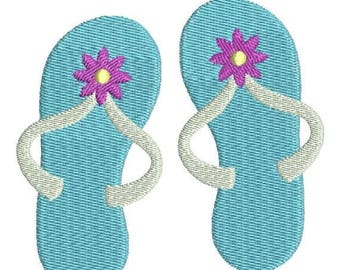 SALE 65% OFF Flip Flops Sandals with flower Machine Embroidery Design 4x4 and 5x7 Instant Download