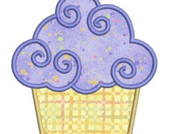 SALE 65% OFF Applique Birthday Cupcake II Machine Embroidery Designs 4x4 & 5x7 Instant Download Sale
