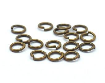 300 Pcs 8 X 1.2 Mm Antique Brass Jumprings A0331
