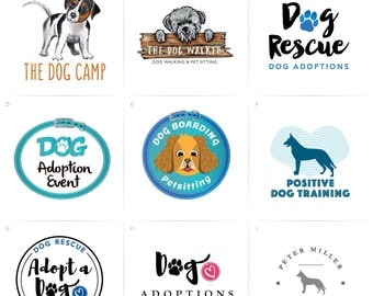 Dog Logo, Premade Dog Logo, Beagle Logo, Puppy Logo, Dog Rescue Logo, Recue Dog, Dog Boarding Logo, Dog Boarding Logo, Dog Walker Logo, Dogs